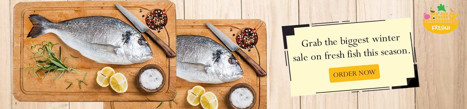 Order Online Fresh Fish with Freshji Online Store
